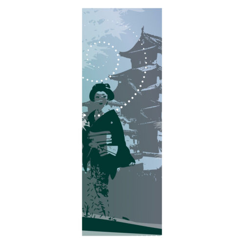 Türtapete Old Floral Asia Tapete Wandbild M0069 Türbild Tür-Aufkleber
