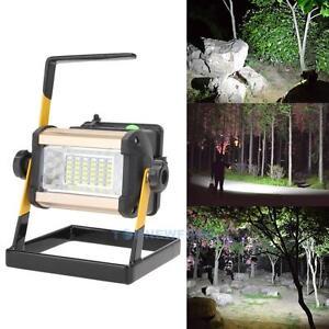 50W Rechargeable Led 2400Lum Floodlight 36LED Portable Flood Lawn Work Light