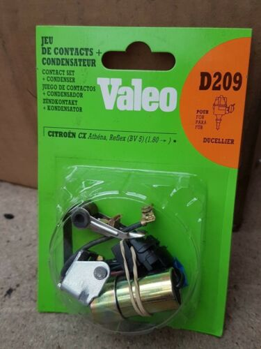Citroen CX Athena Contact Points and Condenser Valeo D209 Ducellier NEW GENUINE