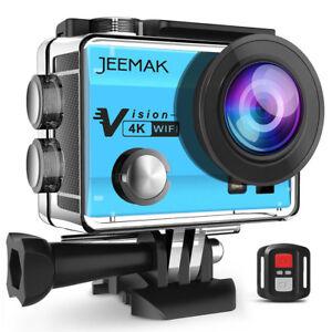 JEEMAK-Action-Sports-Cam-WIFI-4K-Camera-mit-2-4G-Fernbedienung-16MP-Helmkamera