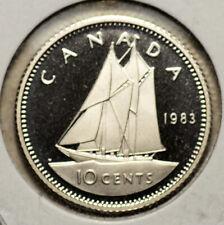 Canada 1983 10 Cent Proof Heavy Cameo