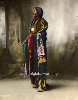 1890 Last Chief Lone Wolf PHOTO Kiowa Warrior Native American Indian Guipago