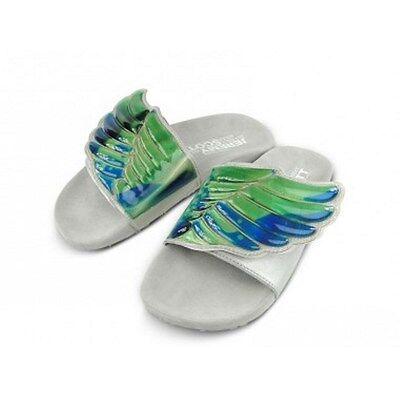 ADIDAS Originals JEREMY SCOTT Sandals OBYO Green JS GEL WINGS D65983 ADILETTE 8