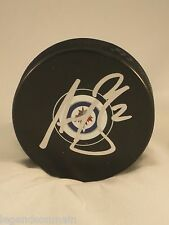 Adam Pardy Winnipeg Jets Signed Autographed Puck  comes with LOM COA