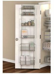 Image Is Loading Premium Over The Door Pantry Organizer Rack Kitchen