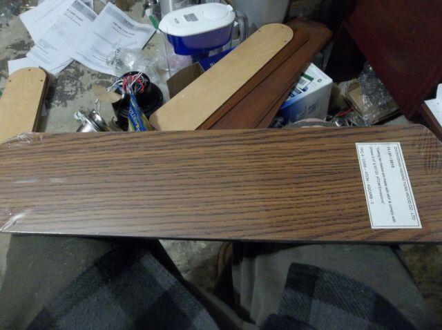 Five-Pack Wellington 7741500 52-Inch Oak//Walnut Replacement Fan Blades