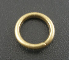 200 PCs Bronze Color Open Jump Rings Findings 8x1.2mm