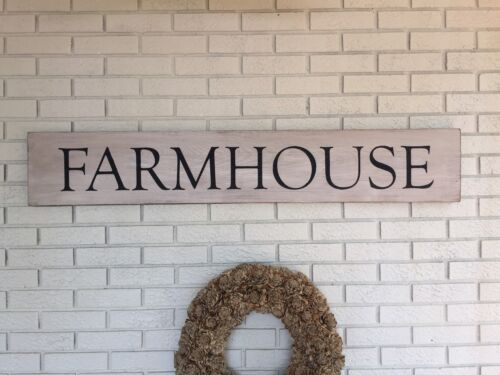 """/""""Farmhouse/"""" Large Rustic Wood Sign Fixer Upper Style Home Decor"""