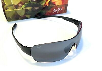 0e33d2cb5c7 *NEW Maui Jim NIGHT DIVE Black Shield Wrap w POLARIZED Grey Lens Sunglass  521-