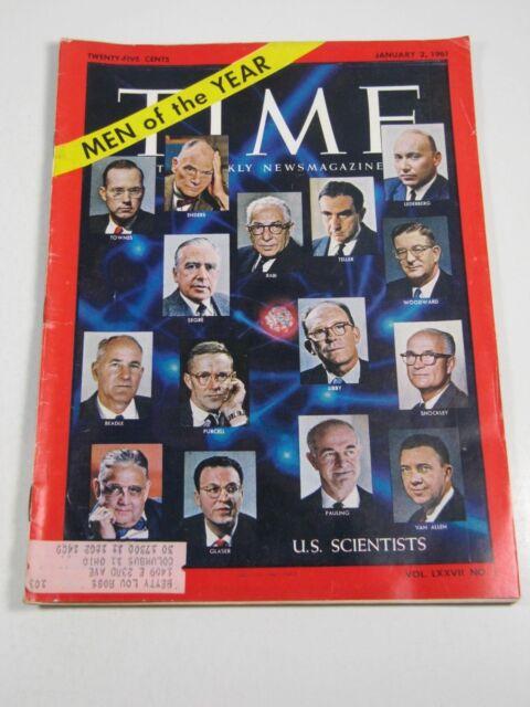Time Magazine- January 2, 1961- U.S. Scientists - Vintage