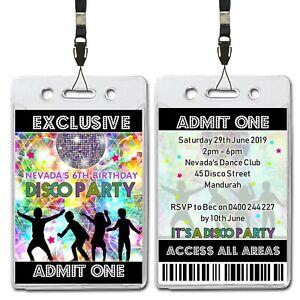 Disco-Dance-VIP-Lanyard-Invitation