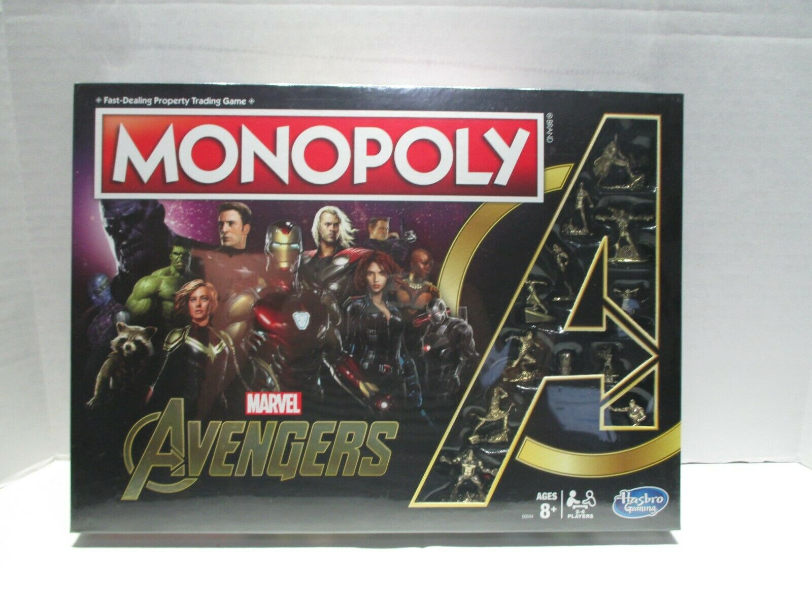Marvel Avengers Monopoly Hasbro gold Tokens First Ten Years 2018 630509850587
