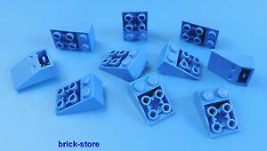 LEGO-2x3-Mattoncini-obliqui-blu-Tegole-25-10-pc
