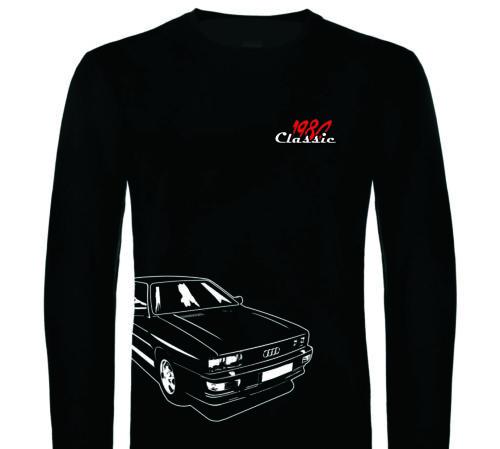 AL bis 4XL Longsleeve Audi Langarmshirt Pullover Classic Ur quattro 2.0 1980