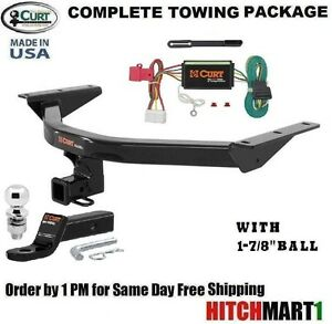 s l300 fits 2014 2017 acura mdx class 3 curt trailer hitch package 1 7 8