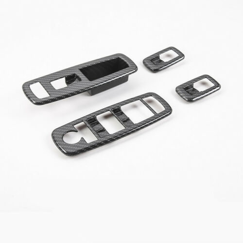 For Jeep Grand Cherokee14-18 ABS Carbon Fiber Window Switch Panel Cover Trim 4pc