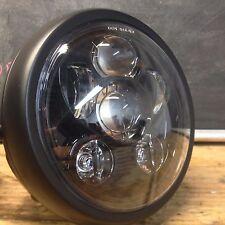 "6"" LED six projector Black headlight Side Mount cafe racer cb350 kz400 cm400"
