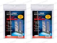 200 Ultra Pro 5x7 Soft Sleeves Premium Photo Postcard Free Shipping