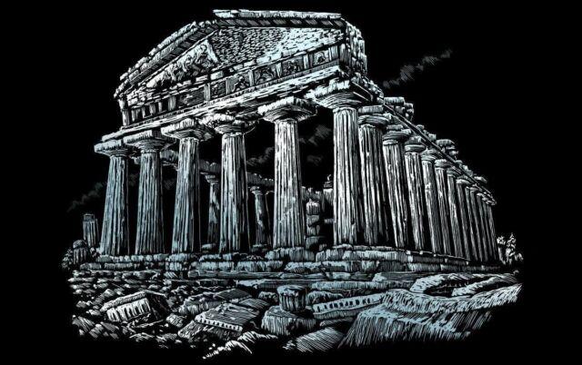 Royal /& Langnickel FAM-11 Engraving Art//Kratzbilder Parthenon