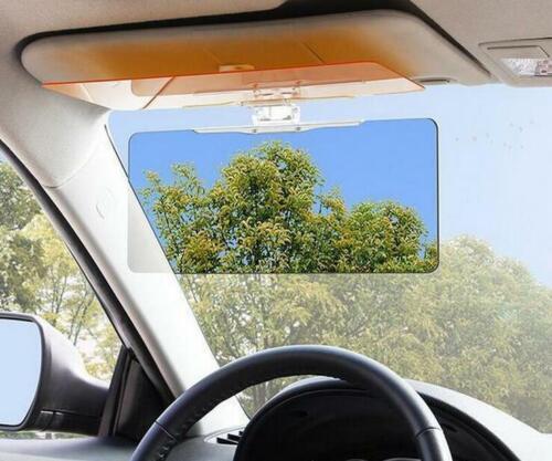 2 in 1 Car Clear HD Anti-glare Glass Car Sun Visor Extender Day Night Driving UK