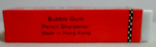 STATIONERY VTG 80/'s RED WONDERFUL BUBBLE GUM PLASTIC PENCIL SHARPENER UNUSED