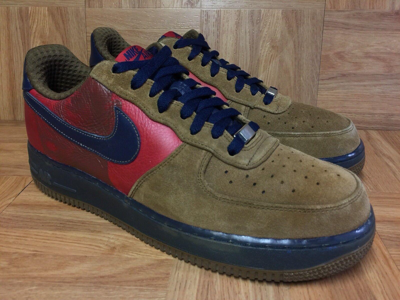 RARE� Nike Air Force 1 Vince Carter XXV Khaki Obsidian Sz 10.5 315181-241 Men's