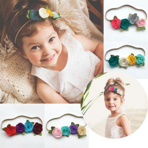 NEW Baby Headband Flower Pink Ribbon Hair Band for Baby Girls Kids Turban Newbor