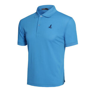 Men-039-s-Regular-Fit-Polo-Shirt-Short-Sleeve-Cool-Dry-Summer-Basic-Tee-Solid