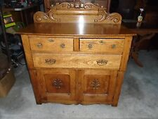 ANTIQUE SMALL SIDEBOARD OAK