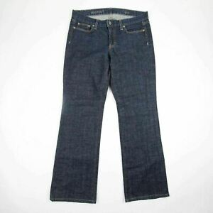 J-Crew-Women-039-s-Jeans-Bootcut-Stretch-Size-30s-Dark-Blue-Wash-Low-Rise-Trousers