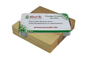 Details Zu Visitenkartenbox Aus Holz Visitenkartenhalter Visitenkarten Präsentation