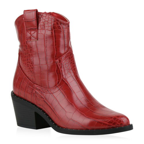 Damen Boots Leicht Gefütterte Stiefeletten Western Schuhe 831583 Trendy