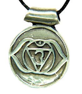 Butw anja brow third eye chakra chakra amulet pewter pendant image is loading butw anja brow third eye chakra chakra amulet mozeypictures Image collections