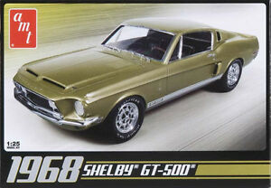 AMT-68-Shelby-GT500-Mustang-1-25-scale-plastic-model-car-kit-new-634
