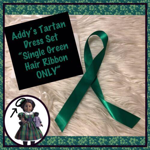 Single Green Hair Ribbon EUC American Girl Addy Tartan Plaid Christmas Set