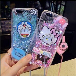 Hello-Kitty-Doraemon-Case-Cover-For-iPhone-8-7-6-6S-5S-SE-Plus-Strap-Kickstand