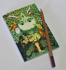 Sketchbook - Green Man A5 recycled blank notebook Pagan Medieval drawing Celtic