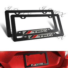 2pcs TRD Car Trunk Emblem + ABS License Plate Tag Frame for Toyota Tundra Tacoma