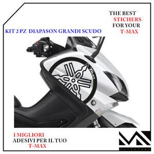 KIT 2 ADESIVI DIAPASON SCUDO ANTERIORE PER YAMAHA T-MAX TMAX 530  12-16  ARGENTO