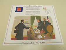 History of America in Stamps ANDREW JOHNSON IMPEACHED 1986 Postal Panel