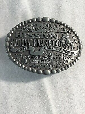 National Finals Rodeo Hesston 2008 Youth Small NFR Cowboy Buckle New AGCO PCRA
