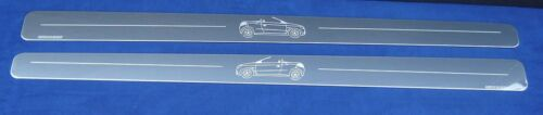 Chrome Door Sills Protectors Kick Plates Vauxhall Tigra Mk2 02
