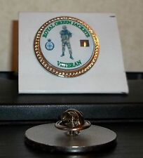 HM Armed Forces The Royal Green Jackets Veteran lapel pin badge .