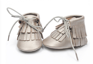 Genuine Leather Booties Boots Moccasins Moccs Baby Infant Toddler Fringe