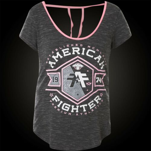 American Macmurray T shirt Damen Grau Fighter Affliction xvFXwrvqRn