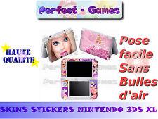 Skin sticker auto-collant vinyl Barbie n°3 pour console nintendo 3DS XL LL