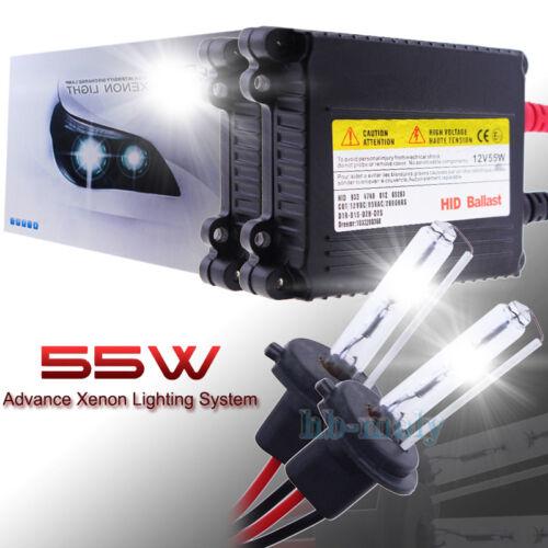 55W H7 H1 H3 Xenon HID Conversion Replacement Headlight Slim Ballast 6000K 8000K