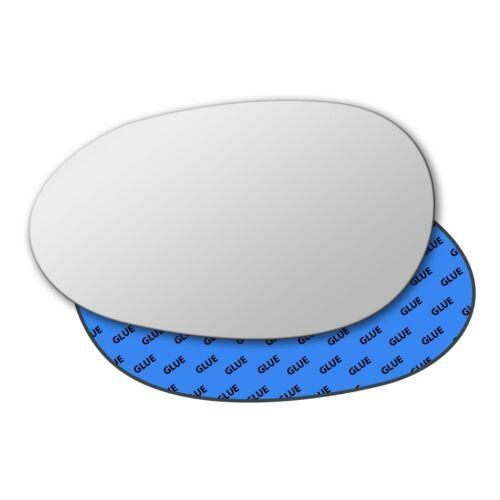 Left Hand Passenger Side Mirror Glass for Smart Fortwo 1998-2007 0042LS