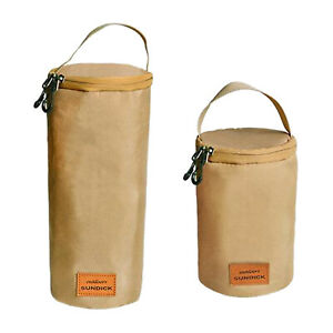 Portable Cooking Gas Cylinder Cover Hiking Lantern Storage Pouch Canister