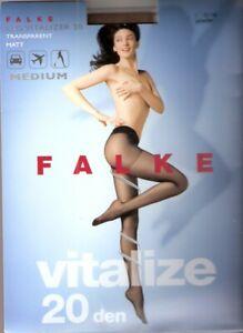 Brillant Falke-collant Leg Vitalizer 20-taille I-iv Noir, Poudre-afficher Le Titre D'origine